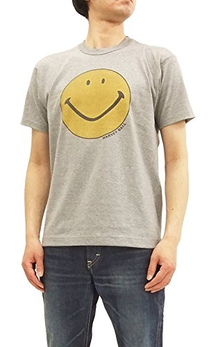 TOYS McCOY Men's Short Sleeve T-Shirt Smiley Face Graphic Tee TMC1802 Ash Gray Japan L (US S-M/UK 36-38) by TOYS McCOY