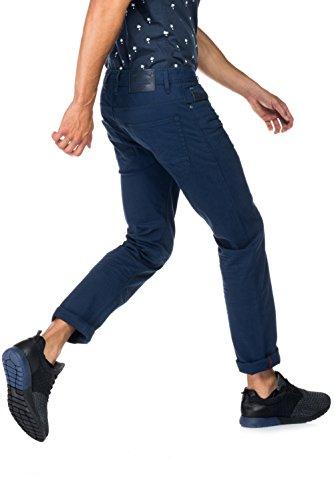 Salsa - Pantalons Lima en tissu texturé bleu - Homme