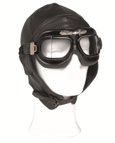 FLIGHT LEATHER HOOD BLACK, GR.M/57-58