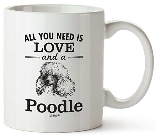 Poodle Mom Gifts Mug For Women Men Dad Decor Lover Decorations Stuff I Love Poodles Coffee Merchandise Accessories Talking Art Apparel Funny Birthday Gift Home Supplies Products Dog Coffee Cup ()