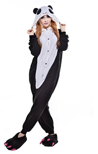 Unisex Costume Panda Cosplay Onesie Adult Pajamas Anime Cartoon Sleepwear (X-Large, Panda2) -
