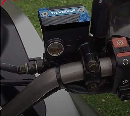 Motorcycle CNC Front Brake Fluid Reservoir Cap Cover for HONDA TRANSALP 700 TRANSALP 650 700 XLV Color : Black