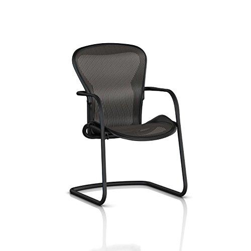 Herman Miller Classic Aeron Side Chair: Graphite Frame/Carbon Classic Pellicle - Aeron Classic Frame