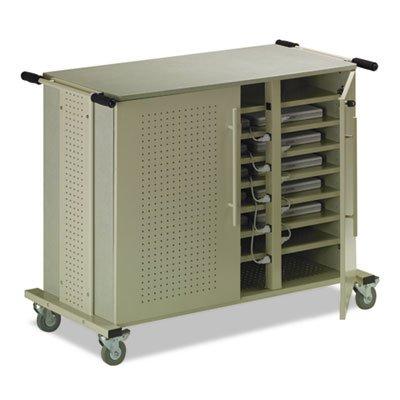 Laptop Cart, 50-1/2w x 26-1/2d x 40h, Gray Maytrix/Sand, Sold as 1 Each