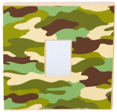 KAS 1040 Kids Army Bedroom Woodland Camouflage Light Switch Cover