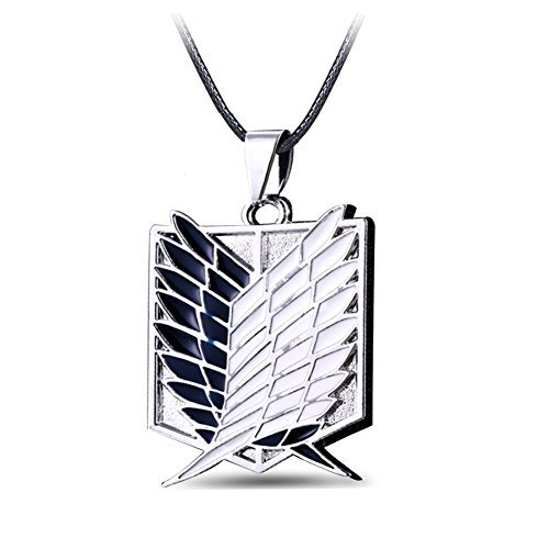 CG Costume Attack on Titan Necklace Survey Corps TV Alloy Cosplay Costume for $<!--$0.01-->