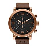 AIMANT Men's Watch Maui Copper with Brown Leather Band GMU-140L5-55