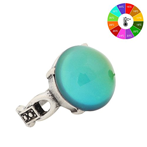 Mojo Classic Design Antique Sterling Silver Plated Ring Stone Color Change Mood Rings MJ-RS041