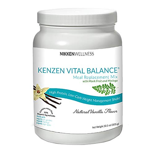 Nikken Kenzen Vital Balance Meal Replacement Mix 30 oz – Vanilla Flavor