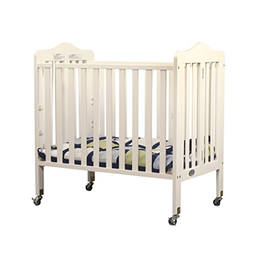 Orbelle Tina Three Level Mini Crib, French White