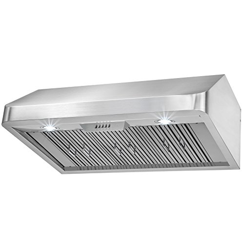 FIREBIRD New 36″ European Style Under Cabinet Stainless Steel Range Hood Vent W/ Push Button Control