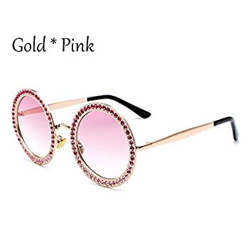 TL-Sunglasses Colorido Diamantes Circulares Frame Gafas de ...