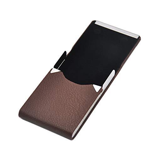 Yu2d  1PCLeather Cigar Cigarette Tobacco Pocket Box Storage Case Holder Wallet(Brown)