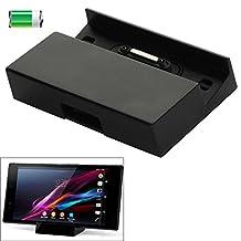 Hub USB Desktop Magnetic Charging Dock for Sony Xperia Z3 / Xperia Z2 / Xperia Z1 / Xperia Z, with 4 Magnetic Stick Covers ( Color : Black )