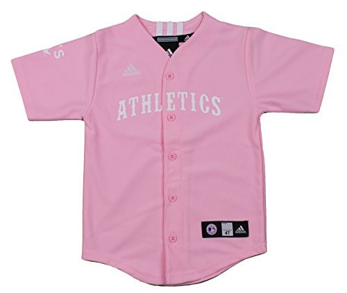 - Oakland Athletics MLB Big Girls Screen Printed Jersey, Pink