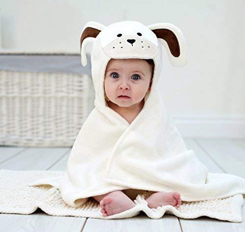 (Bathing Bunnies Long Eared Puppy Baby Towel Cream White)