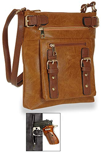 Multi Cognac Pocket Pocket Multi Crossbody Sling WzPqYHzc7