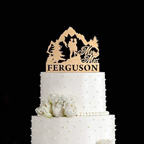 DWYHH Mountains Cake Toppermountain Wedding Cake Toppermountain Cake Toppermountain Cake Topper Weddingoutdoor Wedding Cake Topper