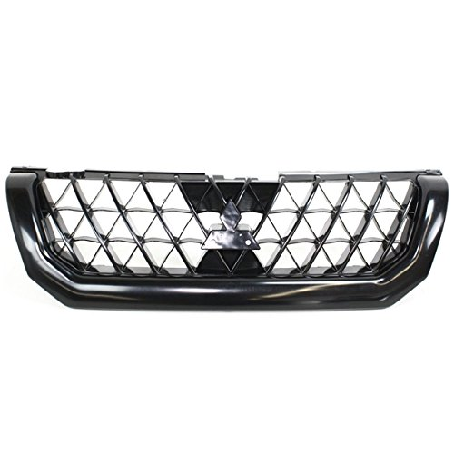 Koolzap For 02-04 Montero Sport Front Grill Grille Assembly Black Shell MI1200238 MR634637 ()
