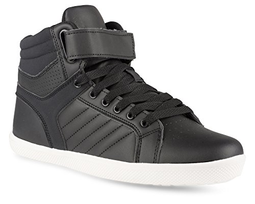 Crocodile High Top - Influence Men's Rick High-Top Fashion Sneakers, Black, Size 8