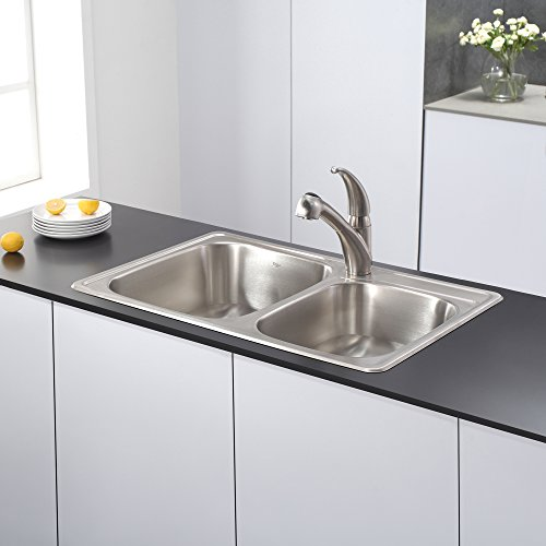 Kraus KTM32 33 inch Topmount 60/40 Double Bowl 18 gauge Stainless Steel Kitchen Sink by Kraus (Image #5)