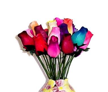 One Dozen Assorted Wooden Roses Buy Online In Oman Wooden Roses