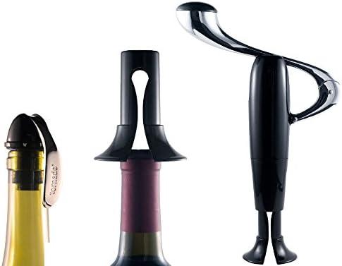 El servicio de Tornado Deluxe – Estuche para botella de vino y abridor de vino: Amazon.es: Hogar