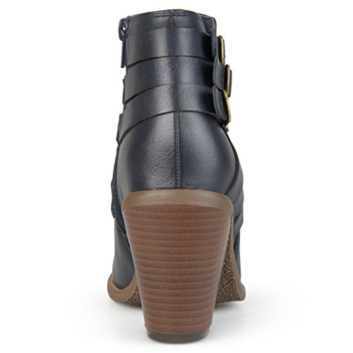 Journee Collection Womens Multi Strap Ankle Boots Navy dLmvHI