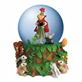 100mm Sleeping Beauty in Water Globe with Forest Animal Friends