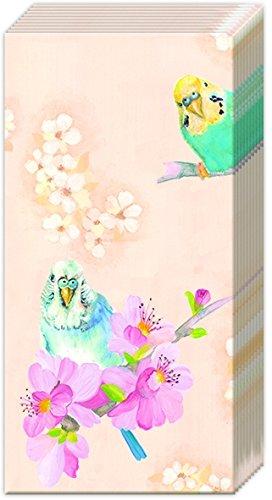 2 packs of IHR Paper Pocket handbag Tissues - Parakeets Budgies Birds