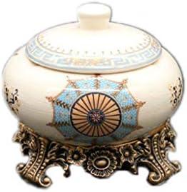 灰皿 , セラミック灰皿クリエイティブヨーロッパの家風防カバースタイリッシュな灰皿 (色 : B, サイズ : 15*16*16cm)