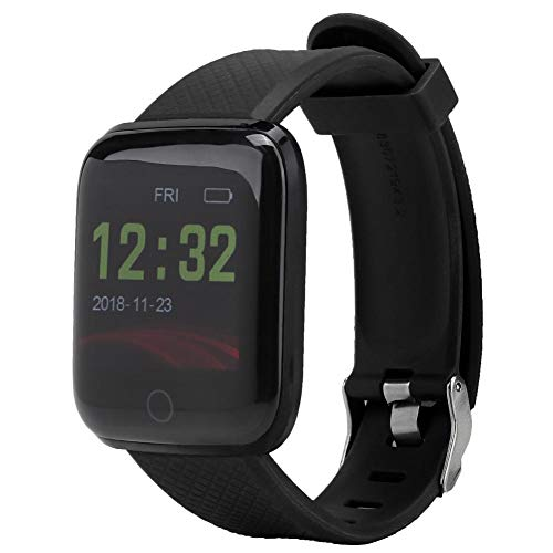 Zopsc YX-6 Color Screen Smart Watch Heart Rate Blood Pressure Monitor Exercise Health Smart Bracelet with Classic Dial Design etc. Connect to for WeChat Sports.(Black)