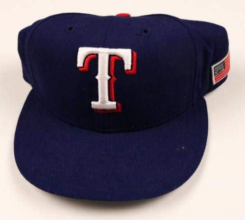 e44313a4986 Texas Rangers  32 Game Used Worn Hat Cap - Game Used MLB Hats at Amazon s  Sports Collectibles Store