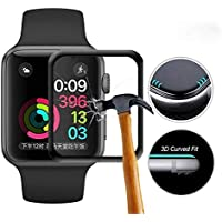 Ally Apple Watch 4 44mm 3D Kavisli Full Cam Ekran Koruyucu SİYAH
