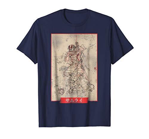 (Historical Vintage Samurai Japanese Anime T-shirt)
