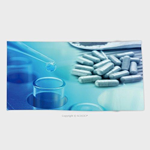 Cotton Microfiber Bathroom Towels Ultra Soft Hotel Spa Beach Pool Bath Towel Pharmaceutical Background Chemical Test Drug At Science Lab
