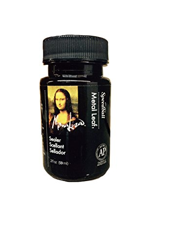 - Speedball 10218 Mona Lisa Water-Based Sealer for Metal Leafing Projects - Clear, Fast Drying, Sealant - 2 Ounces