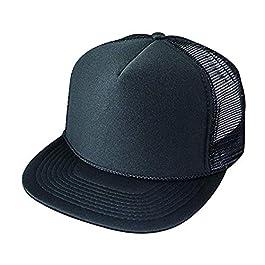 ImpecGear Flat Bill Summer Mesh Cap Poly-Foam Adjustable Hat (14 Colors)