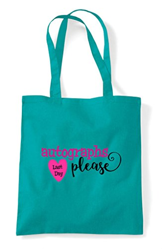 Autographs Please Shopper Emerald Tote Last Bag Day Uwq55g