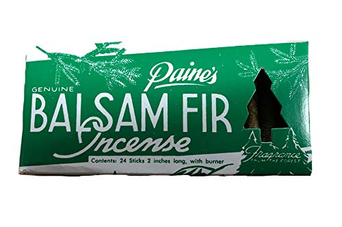 Paine's Balsam Fir Incense Pack of 24 with Burner