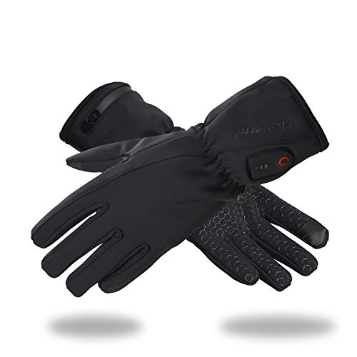 Dr.Warm Heated Glove Liners for Men and Women Windproof Touchscreen Anti-Skip with Rechargeable Battery for Outdoor Motorcycle Camping Hiking Skiing, Hand Warmer Heat Up to 3-7H [M]