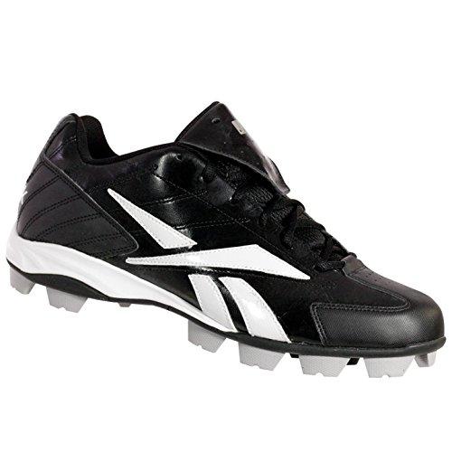 Reebok J01424 Pro Haute N Serré Bas Mrt Chaussures De Baseball Pour Hommes Noir / Blanc 13 M
