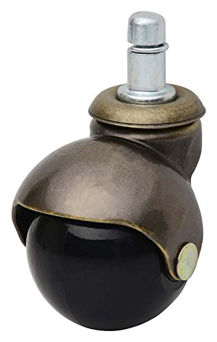 Caster Classics 5-Pack 2-inch Antique Brass Ball Chair (Brass Wheel Caster)