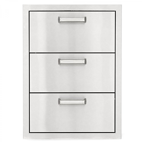 BBQGUYS Sonoma Series 20-Inch Stainless Steel Double Access Drawer with Paper Towel Dispenser