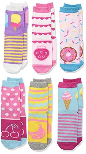 Jefferies Socks girls Sweat Treats Ice Cream/Donuts Fashion Crew Socks 6 Pair Pack