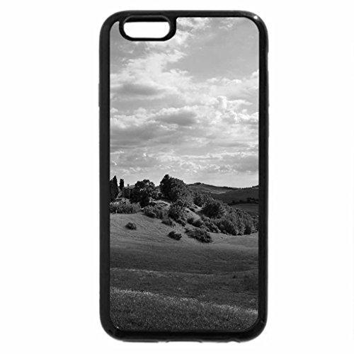 iPhone 6S Plus Case, iPhone 6 Plus Case (Black & White) - beautiful tuscan landscape