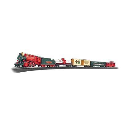 Bachmann Trains - Jingle Bell Express Ready To Run Electric Train Set - HO Scale: Toys & Games