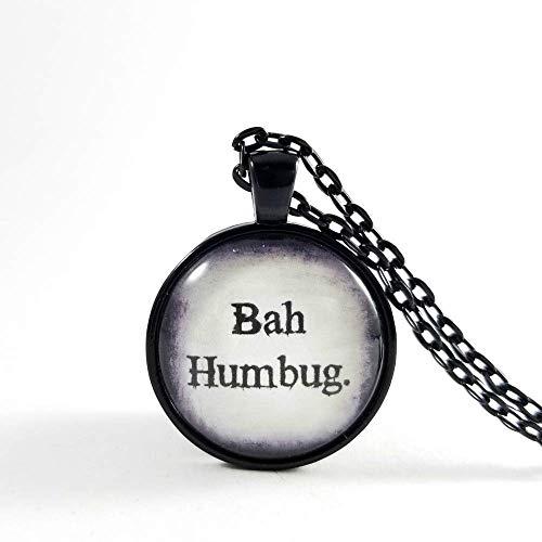 Amazon Com Bah Humbug Necklace Bah Humbug Pendant Christmas