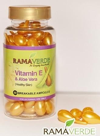 Vitamin E & Aloe Vera Ampoules Breakable ,Vitamina E Aloe Vera Ampolla