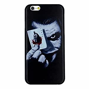 CuteFaiy Cases For Apple Iphone The Joker with Poker Pattern PC Hard Back Cover Case for iPhone 6